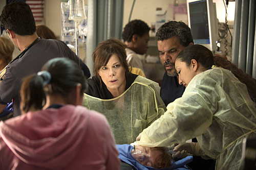 CODE BLACK,  (Marcia Gay Harden, center),  (Luis Guzman, right) Photo: Neil Jacobs/CBS ©2015 CBS Broadcasting, Inc. All Rights Reserved