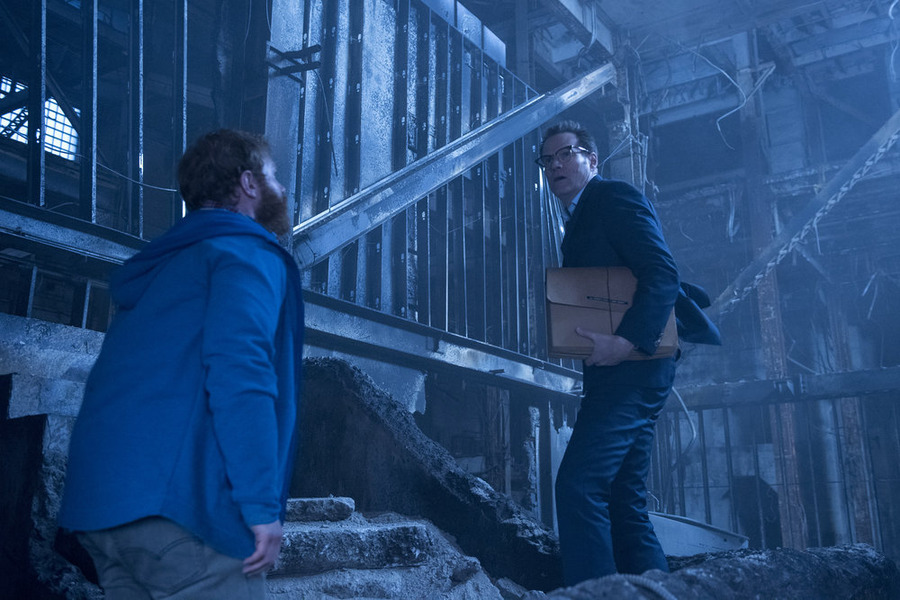 """HEROES REBORN -- """"Odessa"""" Episode 102 -- Pictured: Henry Zebrowski as Quentin Frady, Jack Coleman as HRG -- (Photo by: Christos Kalohoridis/NBC)"""