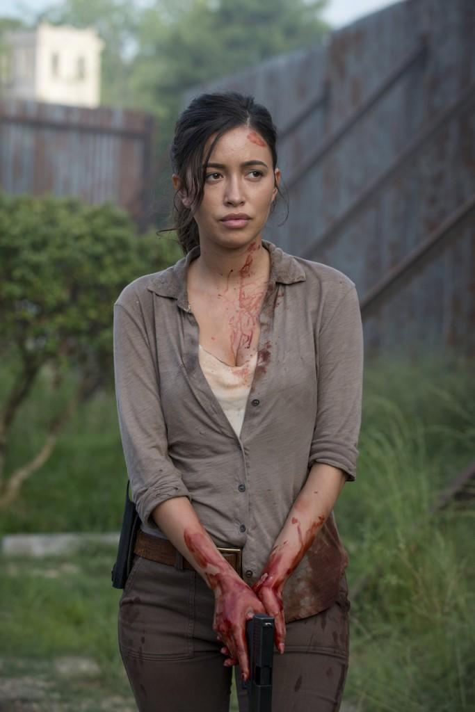 Christian Serratos as Rosita Espinosa - The Walking Dead _ Season 6, Episode 2 - Photo Credit: Gene Page/AMC