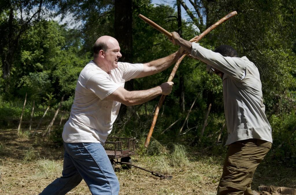 Lennie James as Morgan Jones and John Carroll Lynch as Eastman - The Walking Dead _ Season 6, Episode 4 - Photo Credit: Gene Page/AMC